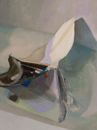 "BATHTUB, UPLAND, INDIANA - ART IN AMERICA, MAY, 2015 - oil on board. 24"" x 18"", 2015 - Suzie Dittenber"