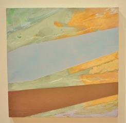 ACCORDIAN - acrylic on canvas mounted on panel. 2004 - Jill Mast