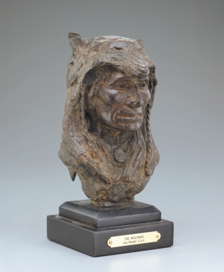 "WOLFMAN - bronze. 10"", 1988 - Joe Beeler"