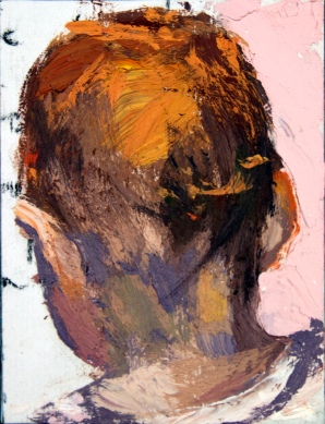 "Suzy Schireson, Oil on board, 3.5""x2.5"""