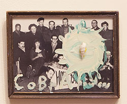 "COBRA ARTISTS - acrylic on glass / photograph with shell. 8"" x 12"", 2014 - Peter Acheson"