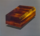 DEATHMASK - acrylic, flashe, casein on jute, panel. Cory Antis