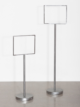 FRAMING DEVICES #1 AND #2 - Steel. 2011 - Olivia Moore
