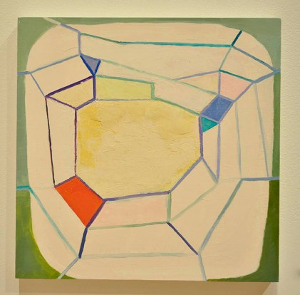 GREEN WEB - oil on panel. Jennifer Moses