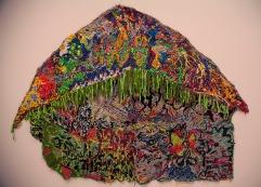 HAYSTACK - flannel and burlap. 7' x 8', 2013 - Liv Aanrud
