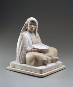 "APACHE WOMAN - Italian marble. 18"", 2001 - Oreland C. Joe"
