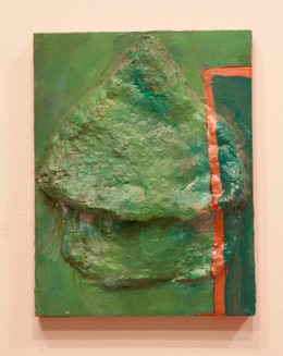 "LIV AANRAUD ""HAYSTACK"" - acrylic and wood. 24"" x 8"", 2009 - Peter Acheson"