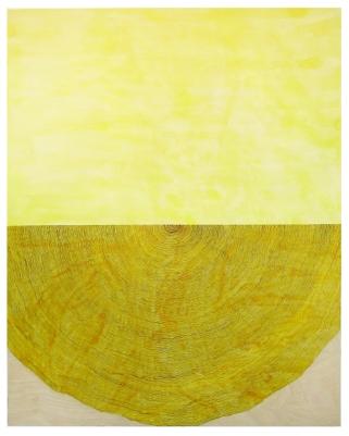 MARROW - watercolor on wood panel. Hannah Barnes