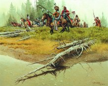 "ON THE BANKS OF THE SOUTH FORK - oil on canvas. 24"" x 30"", 1977 - Frank McCarthy"