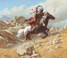 "OUT OF THE ROCK COVER - oil on canvas. 24"" x 28"", 1996 - Frank McCarthy"