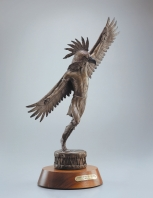 "SPIRIT OF THE THUNDERBIRD - bronze. 22"" x 15"", 1994 - Chris Navarro"