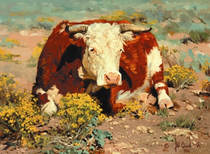 "OATMEAL - oil on canvas. 12"" x 16"", 1981 - Bill Owen"
