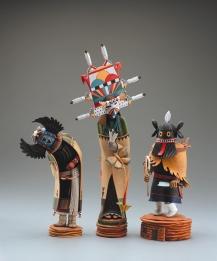 "TUMAS - cottonwood, polychrome. 11"", 1997 - Darrell L. Parker"
