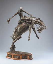"RIDIN' A RANK ONE - bronze. 33"" x 28"", 1993 - Grant Speed"