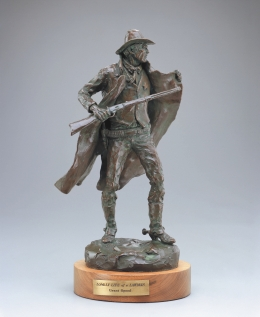 "THE LONELY LIFE OF A LAWMAN - bronze. 17"", 1986 - Grant Speed"