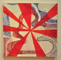 STARBURST I - oil on wood panel. Jennifer Moses