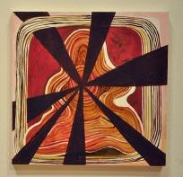 STARBURST II - oil on wood panel. Jennifer Moses