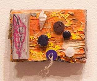 "UNTITLED - mixed media. 3"" x 4"", 2014 - Peter Acheson"
