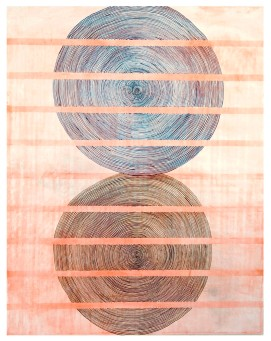ZAHIR - watercolor on wood panel. Hannah Barnes